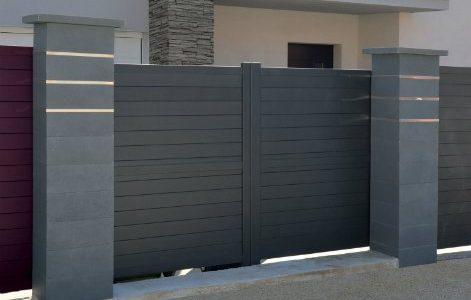 Pilier pour portail en aluminium ou a composer en beton